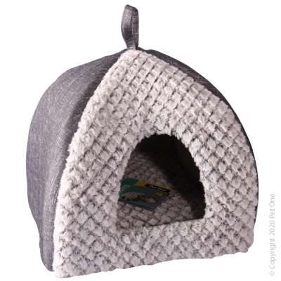 Cat Cave Grey Plush
