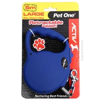 Leash Retractable 5m 40kg And Under Blue