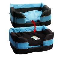 Bed Stay Dry Basket 62x45x25cm Black & Blue