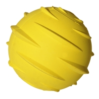 Dog Toy Activ Rubber Ball 6.5cm Dia Yellow
