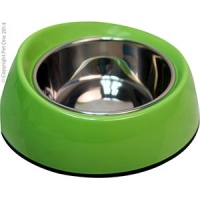 Bowl Round Feed Retainer 160ml Melamine/sS Lime Green