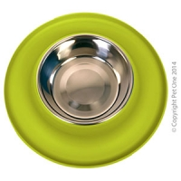 Bowl Silicone S/S Clean Bowl M 350ml Lime Green
