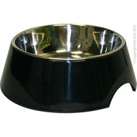 Bowl Round 700ml Melamine/sS Black