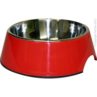Bowl Round 350ml Melamine/SS Red