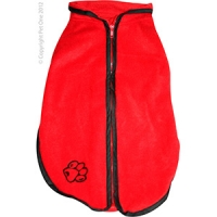 Coat Dog JumpSuit Heavy Fleece Zip Up 35cm Red