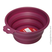 Bowl Silicone Round Travel Bowl S 370ml Burgundy