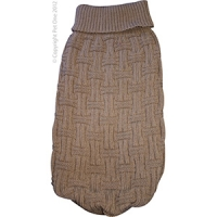 Coat Dog Komfyknit Jumper Icelandic Latte 55cm