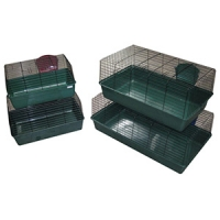 Rabbit Cages Set Of 4 Size (60/69/84.5/101.5cm L) Dark Green