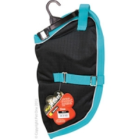 Coat Dog NightWalker Waterproof Reflective 30cm Black/Aqua