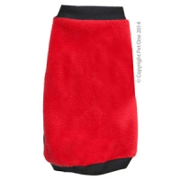 Coat Dog Night Comfy Fleece 65cm Red