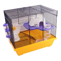 Critter Mansion Mouse Wire Cage 42L X 30W X 36.5cm H White Yellow