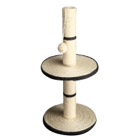 Scratching Tree Post 2 Tier With Ball 40x40x75cm (grey)