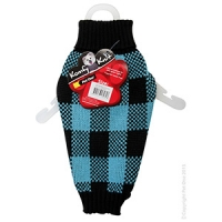 Coat Dog Komfyknit Check 30cm Black/Blue