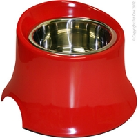 Bowl Round Tall 600ml Melamine/SS Red