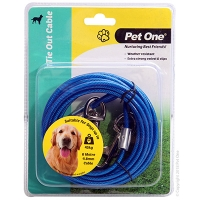 Tie-Out Cable 6M 4.8mm Suit Dogs Up To 45kg